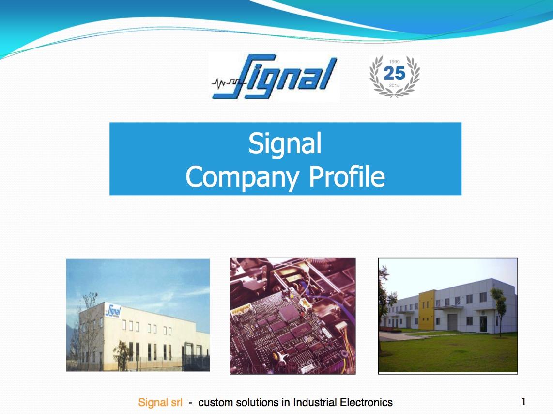 SIGNAL COMPANY PROFILE-part1