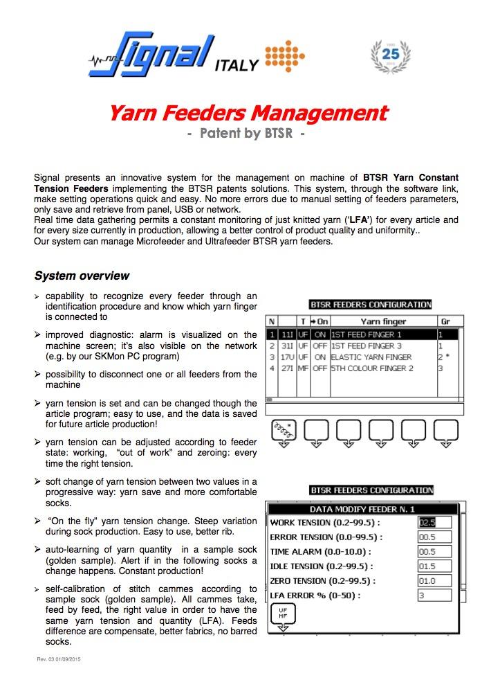Yarn Feeders Management-part1